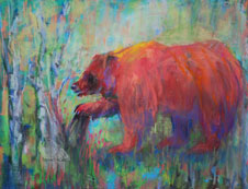 Berry Picker, Bear, Pastel