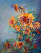 Sunflowers Bowing