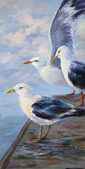 Sea Gulls - oil painting