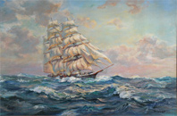 The Flying Cloud Clipper Ship Oil Painting