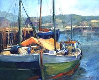 Gloucester Harbor Oil Painting